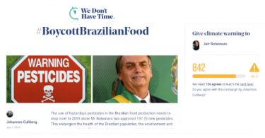 #BoycottBrazilianFood