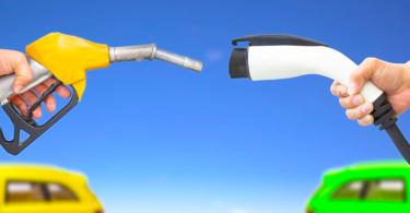 veículos elétricos versus gasolina