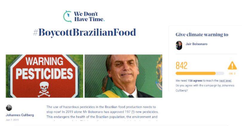 #BoycottBrazilianFood
