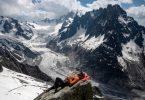 geleiras nos Alpes