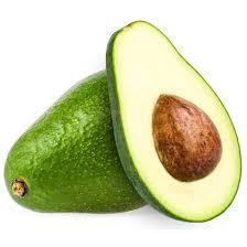 Abacate, verde por fora, marrom no centro
