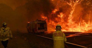 mudanças climáticas incêndios florestais Austrália