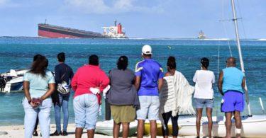 Ilhas Maurício vazamento de óleo
