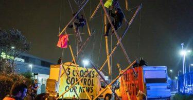 Exctinction Rebellion contra imprensa