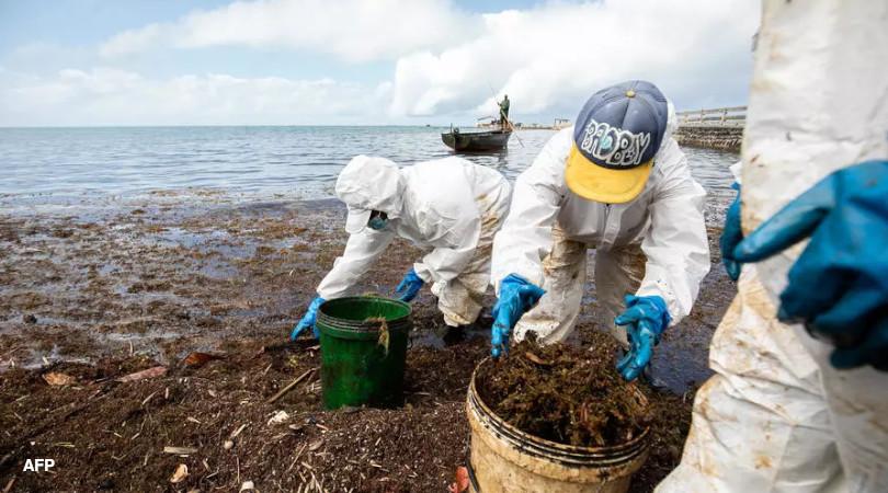 Ilhas Maurício vazamento óleo