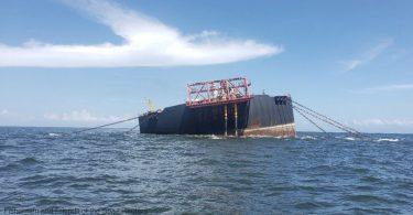 Caribe vazamento de petróleo