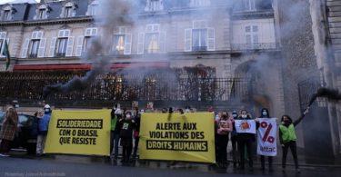 protesto embaixada brasil direitos humanos