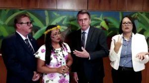 Bolsonaro indígena mineração