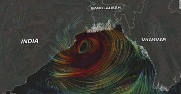 Índia ciclone Yaas