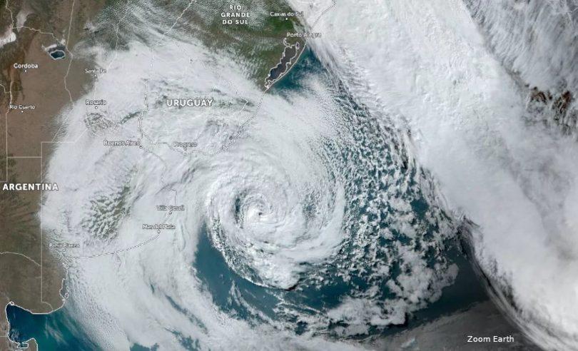 ciclone Raoni no sul