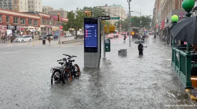 Chuvas NY Calor no oeste