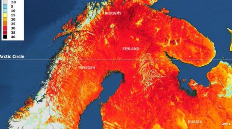 Finlândia onda de calor