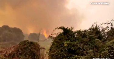 Italia incêndios florestais Sardenha