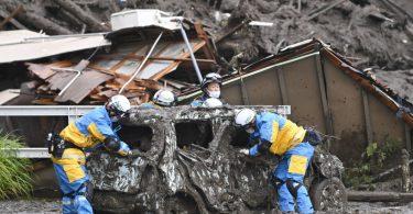Japão deslizamento lama