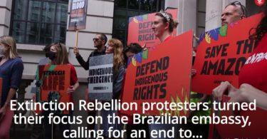 Reino Unido protestos contra Bolsonaro