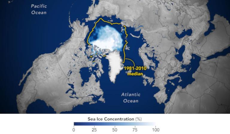 Ártico cobertura de gelo 2020
