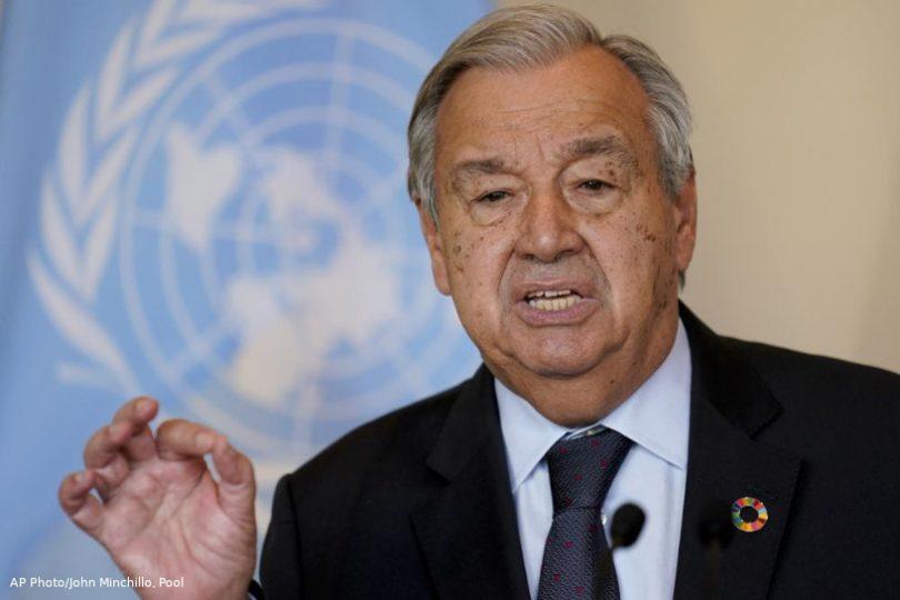Assembleia geral da ONU Guterres