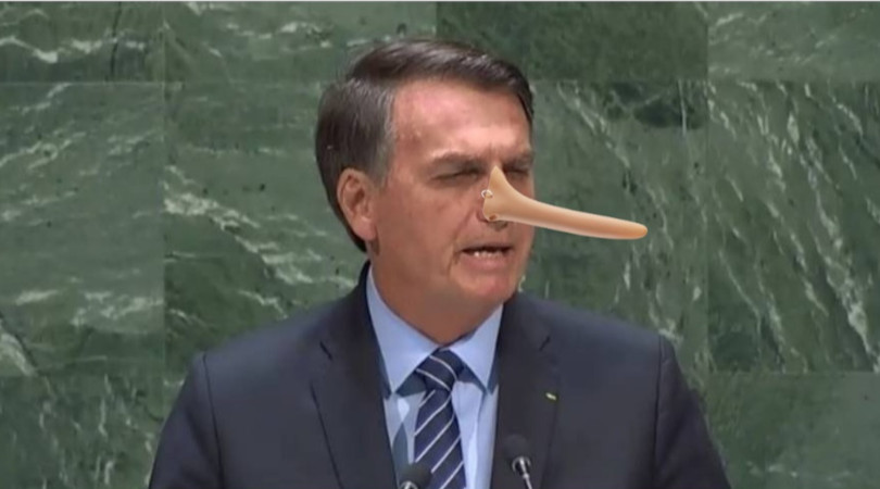 Bolsonaro ONU mentiras