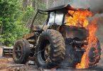 crimes ambientais destruição maquinário