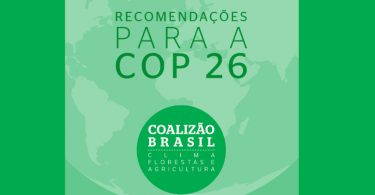 Brasil COP26 recomendações sociedade civil