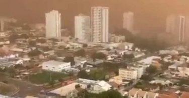 Campo Grande nuvem de poeira